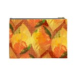 Fall Colors Leaves Pattern Cosmetic Bag (Large)  Back