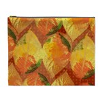 Fall Colors Leaves Pattern Cosmetic Bag (XL) Front