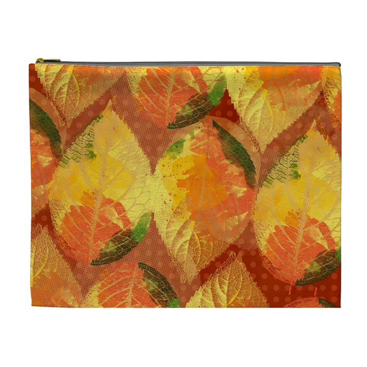 Fall Colors Leaves Pattern Cosmetic Bag (XL)