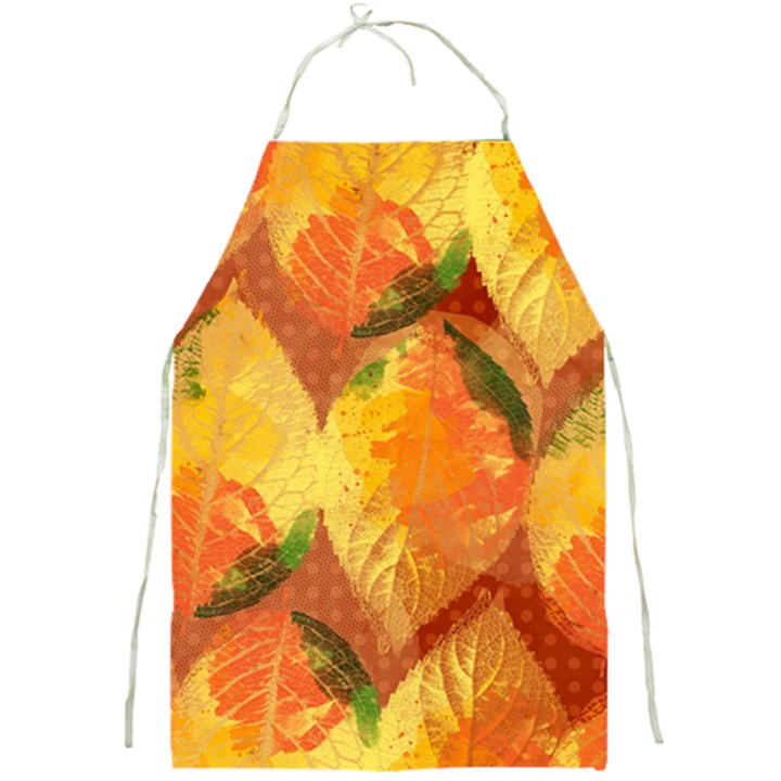 Fall Colors Leaves Pattern Full Print Aprons