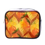 Fall Colors Leaves Pattern Mini Toiletries Bags Front