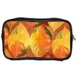 Fall Colors Leaves Pattern Toiletries Bags Front