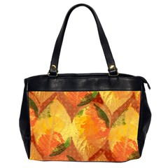 Fall Colors Leaves Pattern Office Handbags (2 Sides)