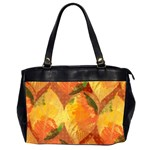Fall Colors Leaves Pattern Office Handbags (2 Sides)  Front