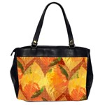 Fall Colors Leaves Pattern Office Handbags (2 Sides)  Back