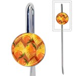 Fall Colors Leaves Pattern Book Mark Front