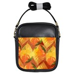 Fall Colors Leaves Pattern Girls Sling Bags Front