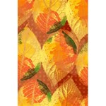 Fall Colors Leaves Pattern 5.5  x 8.5  Notebooks Back Cover Inside