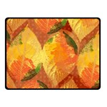 Fall Colors Leaves Pattern Fleece Blanket (Small) 50 x40 Blanket Front