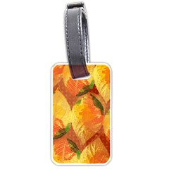 Fall Colors Leaves Pattern Luggage Tags (one Side)