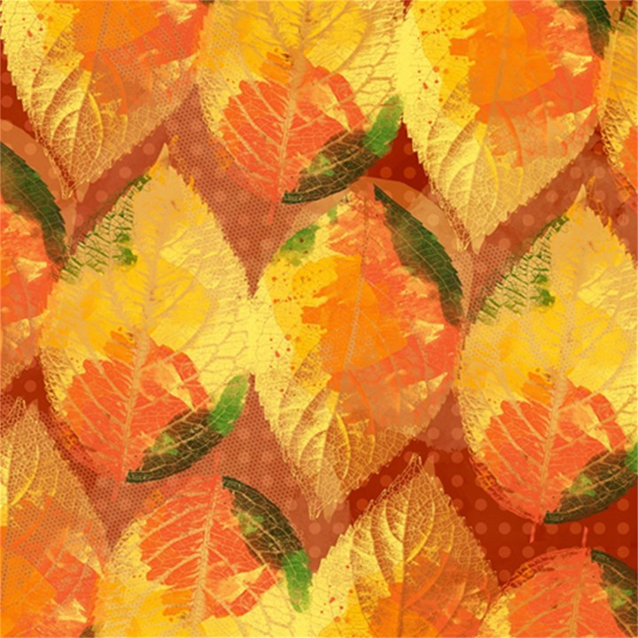 Fall Colors Leaves Pattern Magic Photo Cubes