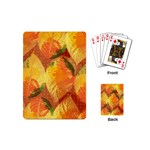 Fall Colors Leaves Pattern Playing Cards (Mini)  Back