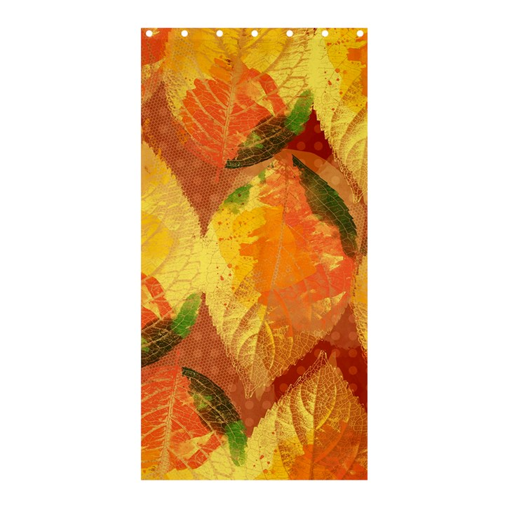 Fall Colors Leaves Pattern Shower Curtain 36  x 72  (Stall)