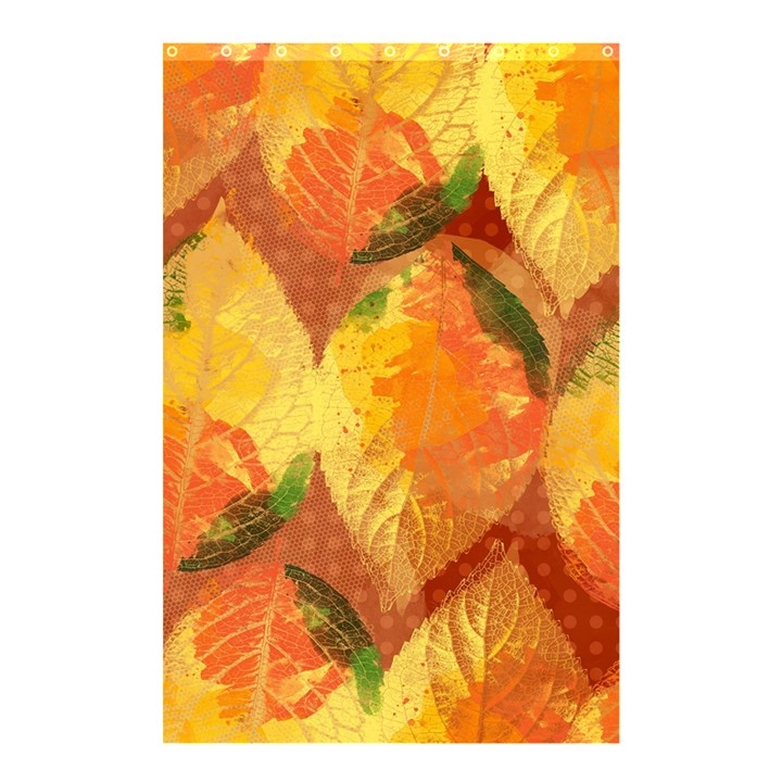Fall Colors Leaves Pattern Shower Curtain 48  x 72  (Small)