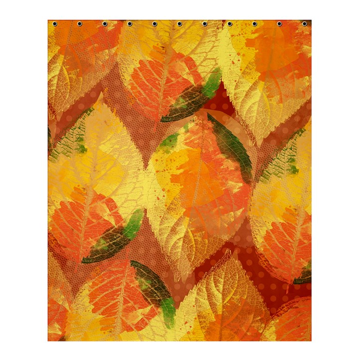 Fall Colors Leaves Pattern Shower Curtain 60  x 72  (Medium)