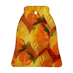Fall Colors Leaves Pattern Ornament (Bell)  Front