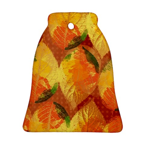 Fall Colors Leaves Pattern Bell Ornament (2 Sides)