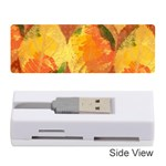 Fall Colors Leaves Pattern Memory Card Reader (Stick)  Front