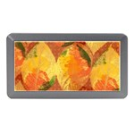 Fall Colors Leaves Pattern Memory Card Reader (Mini) Front