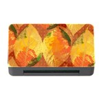Fall Colors Leaves Pattern Memory Card Reader with CF Front