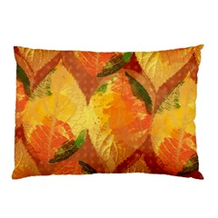 Fall Colors Leaves Pattern Pillow Case (two Sides)