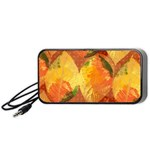 Fall Colors Leaves Pattern Portable Speaker (Black)  Front