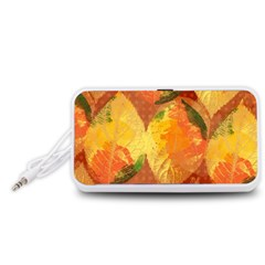 Fall Colors Leaves Pattern Portable Speaker (White)
