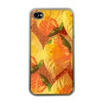 Fall Colors Leaves Pattern Apple iPhone 4 Case (Clear) Front