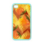 Fall Colors Leaves Pattern Apple iPhone 4 Case (Color) Front