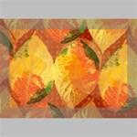 Fall Colors Leaves Pattern Deluxe Canvas 18  x 12   18  x 12  x 1.5  Stretched Canvas