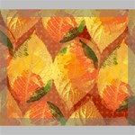 Fall Colors Leaves Pattern Deluxe Canvas 24  x 20   24  x 20  x 1.5  Stretched Canvas