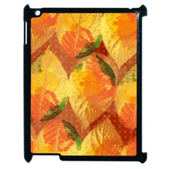 Fall Colors Leaves Pattern Apple Ipad 2 Case (black)