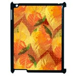 Fall Colors Leaves Pattern Apple iPad 2 Case (Black) Front