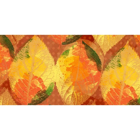 Fall Colors Leaves Pattern YOU ARE INVITED 3D Greeting Card (8x4)