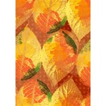 Fall Colors Leaves Pattern LOVE Bottom 3D Greeting Card (7x5) Inside