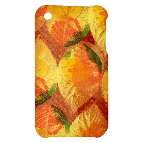 Fall Colors Leaves Pattern Apple iPhone 3G/3GS Hardshell Case