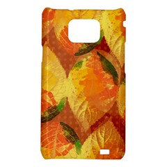 Fall Colors Leaves Pattern Samsung Galaxy S2 i9100 Hardshell Case