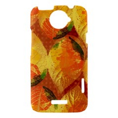 Fall Colors Leaves Pattern HTC One X Hardshell Case