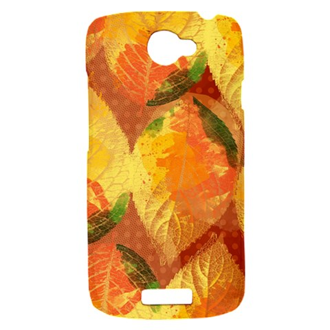 Fall Colors Leaves Pattern HTC One S Hardshell Case