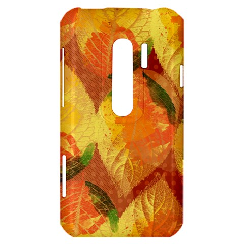 Fall Colors Leaves Pattern HTC Evo 3D Hardshell Case