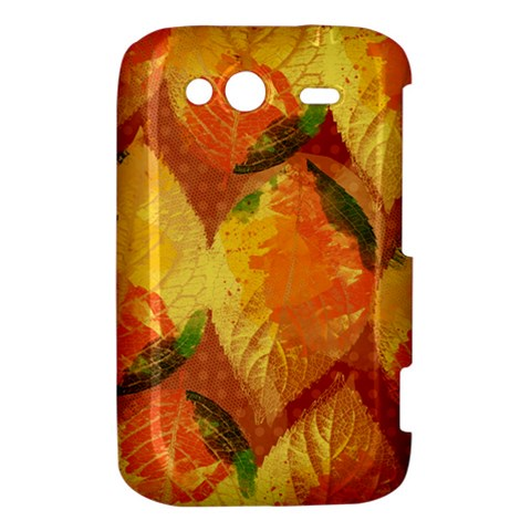 Fall Colors Leaves Pattern HTC Wildfire S A510e Hardshell Case
