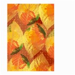 Fall Colors Leaves Pattern Small Garden Flag (Two Sides) Back