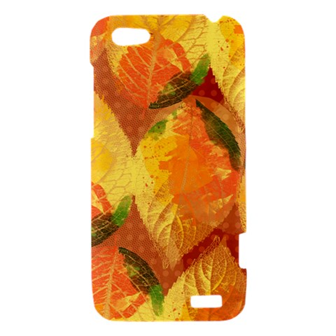 Fall Colors Leaves Pattern HTC One V Hardshell Case