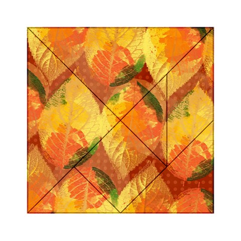Fall Colors Leaves Pattern Acrylic Tangram Puzzle (6  x 6 )