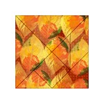 Fall Colors Leaves Pattern Acrylic Tangram Puzzle (4  x 4 ) Front