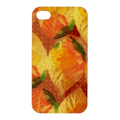 Fall Colors Leaves Pattern Apple Iphone 4/4s Premium Hardshell Case