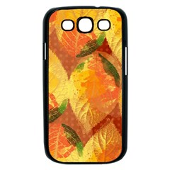 Fall Colors Leaves Pattern Samsung Galaxy S III Case (Black)