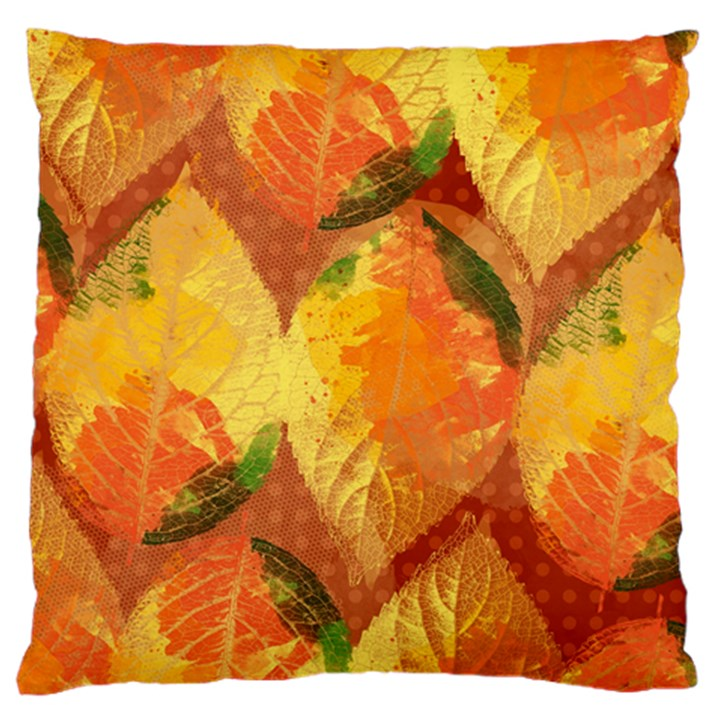 Fall Colors Leaves Pattern Large Cushion Case (One Side)