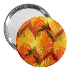 Fall Colors Leaves Pattern 3  Handbag Mirrors