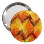 Fall Colors Leaves Pattern 3  Handbag Mirrors Front